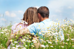 Happy Couple in Love. Royalty Free Stock Photo