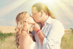 Happy Couple in Love - Romantic Relationship - Valentines Day Stock Image