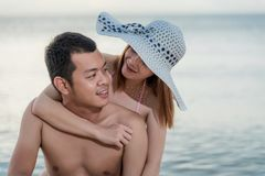 Happy Couple in love smiling Royalty Free Stock Photos