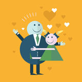 Happy Couple In Love smiling Royalty Free Stock Images