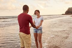 Happy couple loving each other profoundly Royalty Free Stock Images