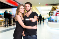 Happy  couple in the mal Royalty Free Stock Photo