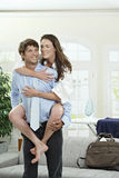 Happy couple in the morning Stock Photography