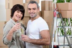 Happy couple moving Stock Photo