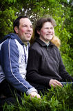 Happy couple on nature Royalty Free Stock Photography