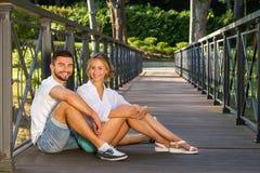 Happy couple on nature Stock Photo