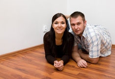 Happy couple at new home Stock Photography