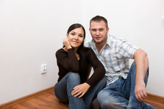 Happy couple at new home Royalty Free Stock Photography