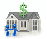 Happy Couple with New Home, Considering Purchase Royalty Free Stock Image