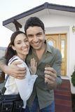 Happy Couple With New Home Key Stock Images