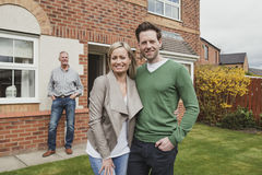 Happy Couple With New Home Royalty Free Stock Photos