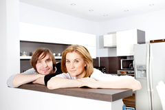 Happy Couple  In New Home Stock Photo