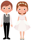 Happy couple newlyweds bride and groom Stock Images