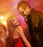Happy couple in the night club Stock Photography