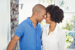 Happy couple nose to nose Stock Photography