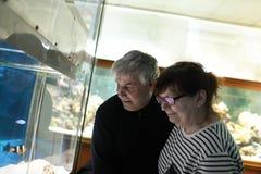 Happy couple at oceanarium Royalty Free Stock Photo