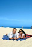 Happy Couple On The Beach Stock Image