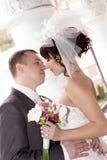 Happy couple outdoor Royalty Free Stock Photos