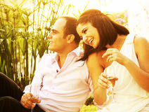 Happy couple outdoor Stock Photography