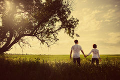 Free Happy Couple Outdoor, Summertime Royalty Free Stock Images - 41660829