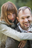 Happy couple outdoors royalty free stock photo