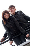 Happy couple outdoors Stock Photos
