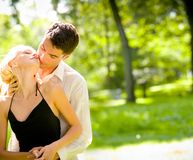 Happy couple, outdoors royalty free stock photo
