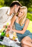 Happy couple outdoors Royalty Free Stock Images