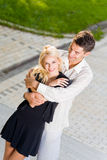 Happy couple outdoors Stock Photo