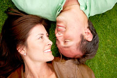 Happy couple outdoors Royalty Free Stock Photos
