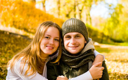 Happy couple outdoors Royalty Free Stock Photo