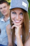 Happy couple outdoors Stock Photography