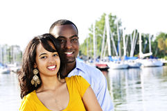 Happy couple outside Royalty Free Stock Photos