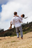 Happy Couple in Paradise Royalty Free Stock Image