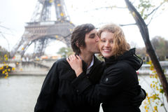 Happy couple in Paris Stock Image