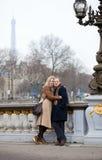 Happy couple in Paris Royalty Free Stock Photos