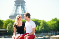 Happy couple in Paris Stock Image