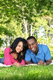 Happy couple in park Royalty Free Stock Image