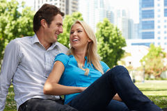 Happy Couple in Park Royalty Free Stock Images