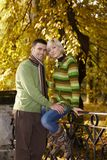 Happy couple in park Royalty Free Stock Photography