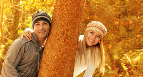 Happy couple in the park Stock Photo
