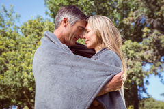 Happy couple in the park Stock Photography