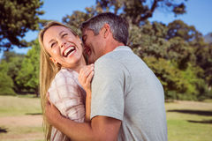 Happy couple in the park Royalty Free Stock Image
