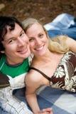 Happy Couple Picnic Stock Image