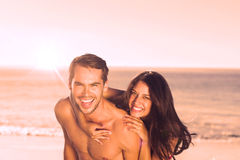 Happy couple playing together Stock Image