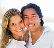 Happy couple portrait Stock Photo