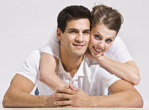 Happy Couple Posing Together. Royalty Free Stock Photography