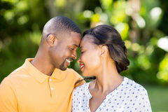 Happy couple posing together Royalty Free Stock Image