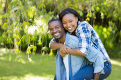 Happy couple posing together Stock Photos