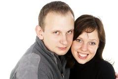 The happy couple a pregnant girl Stock Photos